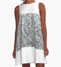 "the Artist Adamo ""RAW sharpie Conceptual Doodle"" A-Line Dress"