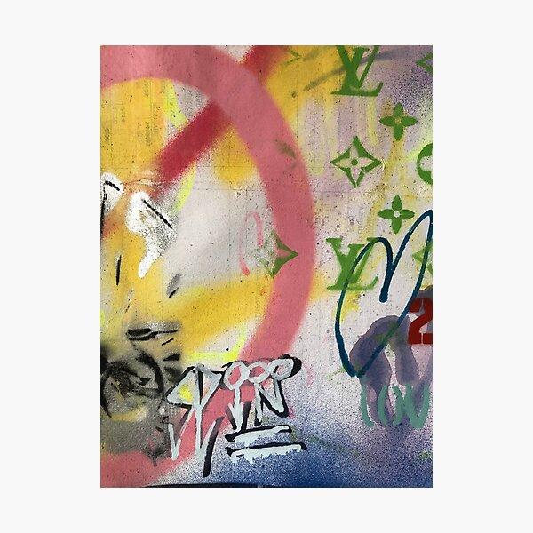 Hearts | Graffiti wall | Pop art | Street-art aesthetics Photographic Print