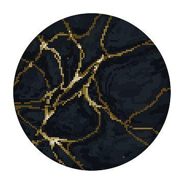 Gold Cracks Circle by lonelytofu