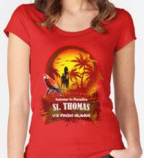 St. Thomas Summer Time Women's Fitted Scoop T-Shirt