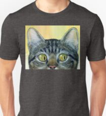 Funny Peeping Tom, cat painting Unisex T-Shirt