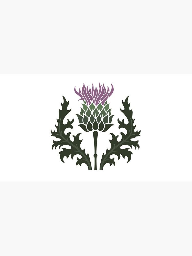 Scottish Thistle Flower of Scotland by podartist