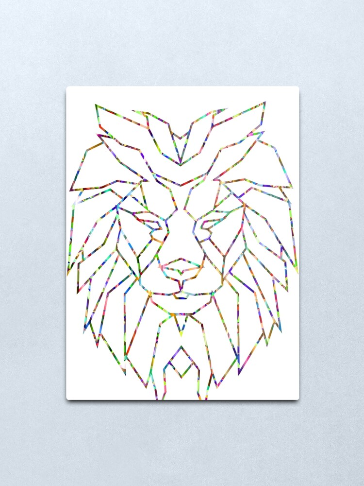 Lion Outline Metal Print By Coasthouse Redbubble Lion outline for cake ideas and designs. redbubble