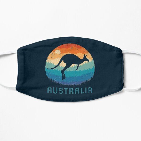 Australia Kangaroo Retro Flat Mask