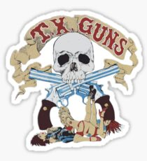 Texas Guns - Lucky Blue Sticker