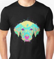 Labrador Puppy Pastel Splatter Unisex T-Shirt