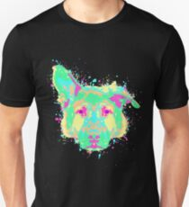 German Shepherd Pastel Splatter T-Shirt