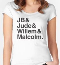 JB & Jude & Willem & Malcolm  Women's Fitted Scoop T-Shirt