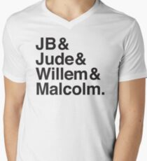 JB & Jude & Willem & Malcolm  Men's V-Neck T-Shirt