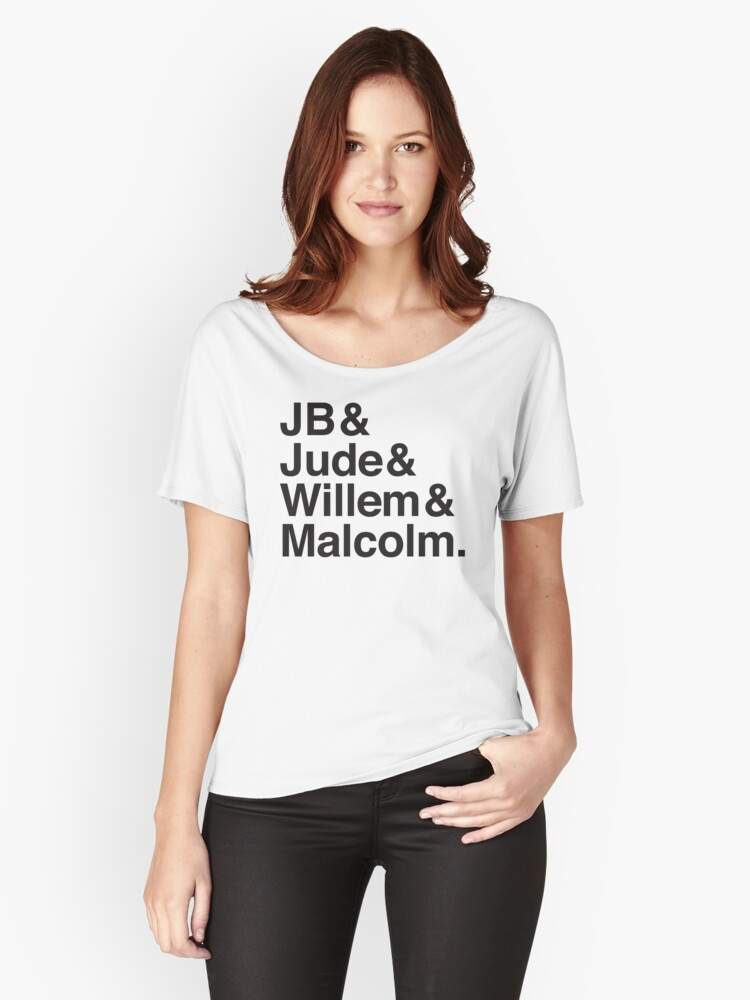 JB & Jude & Willem & Malcolm  Women's Relaxed Fit T-Shirt Front