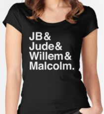A LITTLE LIFE book JB & Jude & Willem & Malcolm (in white) Women's Fitted Scoop T-Shirt