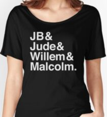 A LITTLE LIFE book JB & Jude & Willem & Malcolm (in white) Women's Relaxed Fit T-Shirt