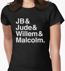 A LITTLE LIFE book JB & Jude & Willem & Malcolm (in white) Women's Fitted T-Shirt