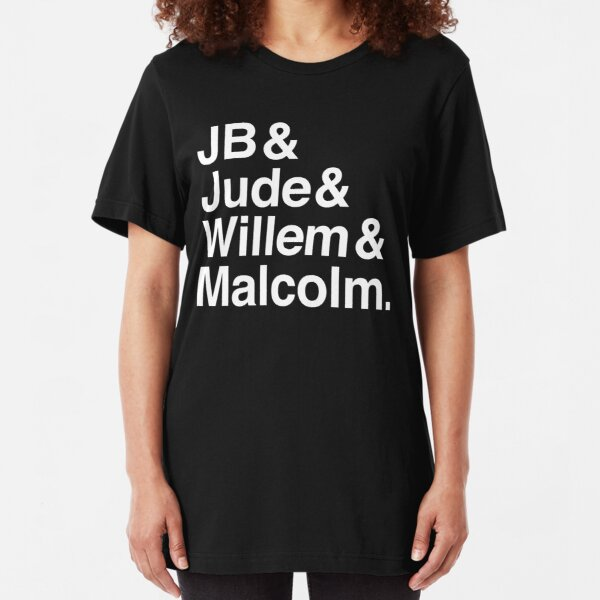 A LITTLE LIFE book JB & Jude & Willem & Malcolm (in white) Slim Fit T-Shirt