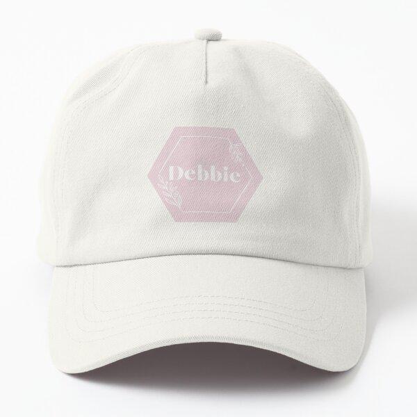 Pink nude hexagon Debbie name sign Dad Hat