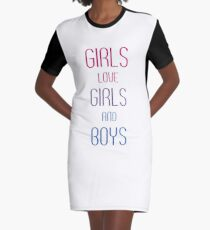 Girls Love Girls and Boys Graphic T-Shirt Dress