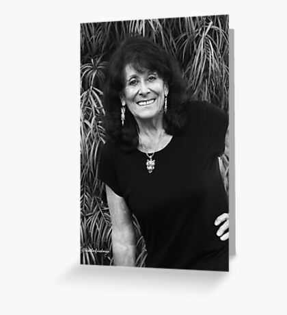Self at Seventy-Three in Black and White Greeting Card