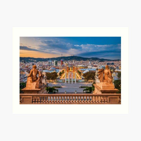 Skyline of Barcelona Art Print