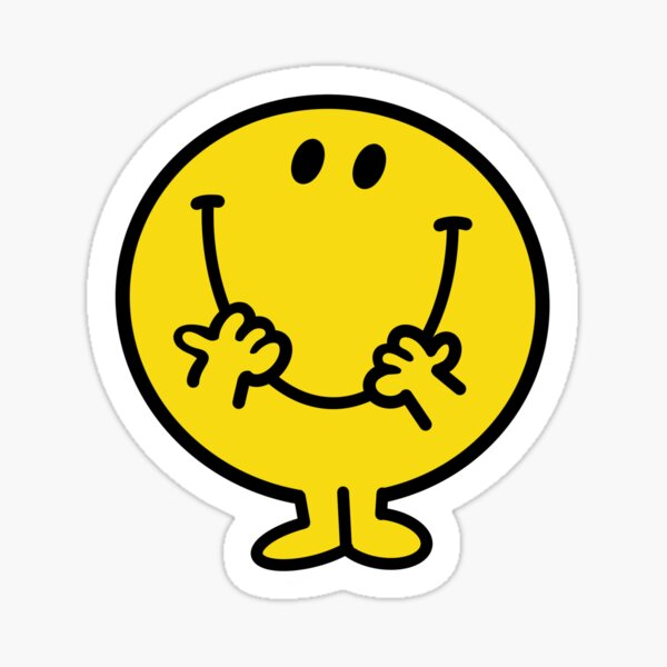 Visage souriant heureux Sticker