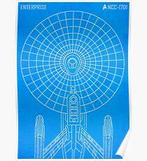 Star Trek - Faux Enterprise Blueprint Poster