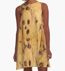 CHOCOLATE CHIP COOKIE (Textures) A-Line Dress