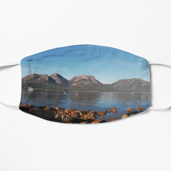 Three mountains wineglass bay Flat Mask