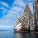Cliff Rock - Off San Cristobal Island, Galapagos by David Galson