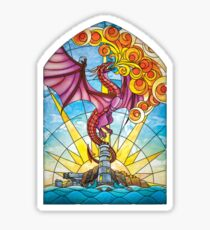 The Fey Man Stained Glass Dragon Sticker
