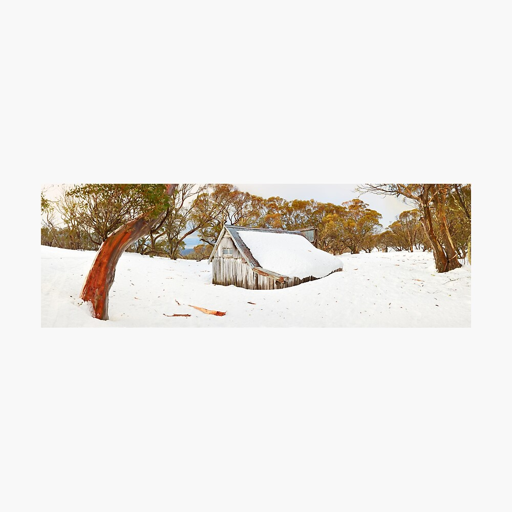 Snowed In, Wallace Hut, Falls Creek, Victoria, Australia Photographic Print