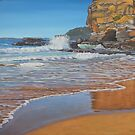 The Cave - Caves Beach, Australia by Carole Elliott