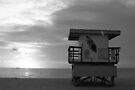 Life Guard Stand - B&W Film by Bill Wetmore