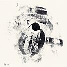 Typographical Grenades #2 - Monotype by Pascale Baud