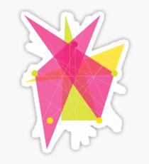 Abstract Pentagon Sticker