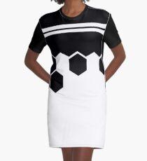 Hexagon desing Graphic T-Shirt Dress