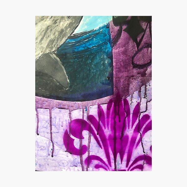 Worn street posters| Wheat paste | Graffiti wall | Pop art | Street-art aesthetics Photographic Print