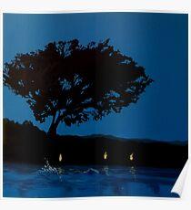 Twilight Swimmer Poster