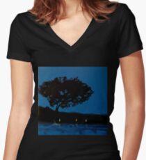 Twilight Swimmer Fitted V-Neck T-Shirt