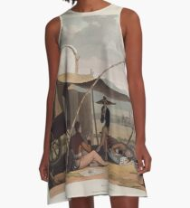 African Scenery and Animals Samuel and William Daniell 1804 0055 Halt of a Boor's Family_jpg A-Line Dress