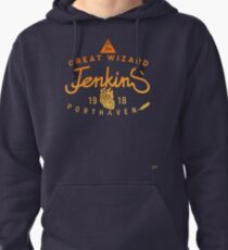 THE GREAT WIZARD JENKINS - burning heart Pullover Hoodie