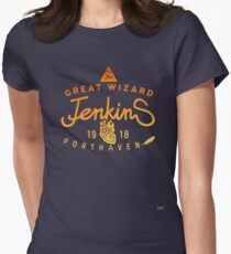 THE GREAT WIZARD JENKINS - burning heart Women's Fitted T-Shirt