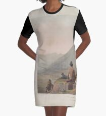 African Scenery and Animals Samuel and William Daniell 1804 0015 Bushmen Hottentots Armed for an Expedition_jpg Graphic T-Shirt Dress
