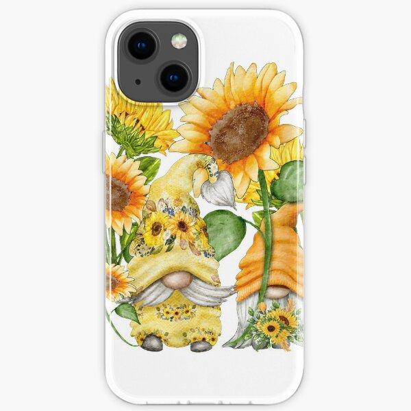 Unique Sunflower Gnome Hippies Spring iPhone Soft Case