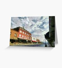 Parting Clouds Over Franklin, NC Greeting Card