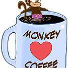 Monkey Heart Coffee by JCarrtoons