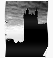 Black and White Photograph Of Exeter Cathedral Poster