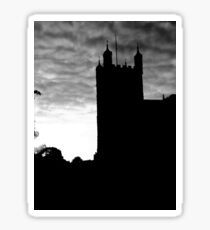 Black and White Photograph Of Exeter Cathedral Sticker