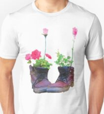 Old shoes with flowers T-Shirt