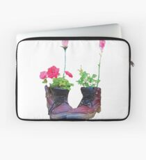 Old shoes with flowers Laptop Sleeve