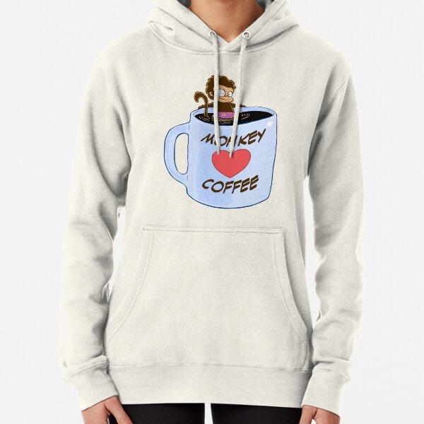 Monkey Heart Coffee Pullover Hoodie
