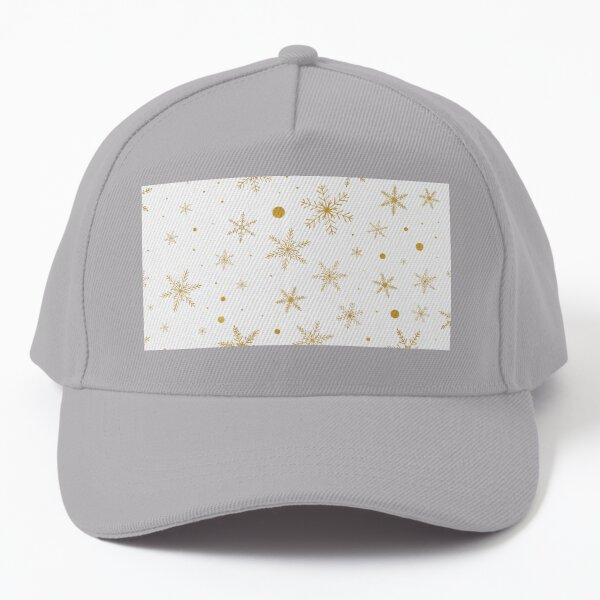 Twinkle Snowflake 3 -Gold & White- Baseball Cap